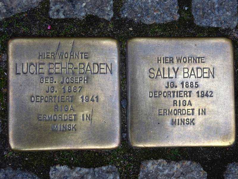 """Lüneburg, Stolpersteine, """"Stumbling stones"""" – EBook Margaret A. McQuillan: An Orange in Winter / The Beginning of the Holocaust as Seen Through the Eyes of a Child"""
